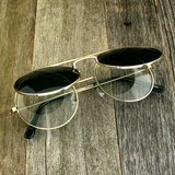 Vintage Steampunk Hippie Round Flip Up Tinted Color Lens Sunglasses - NikkiEyewear.com - 13