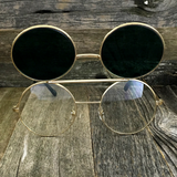 Vintage Steampunk Hippie Round Flip Up Tinted Color Lens Sunglasses - NikkiEyewear.com - 14