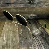 Vintage Steampunk Hippie Round Flip Up Tinted Color Lens Sunglasses - NikkiEyewear.com - 15