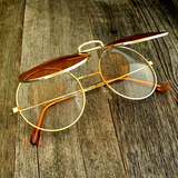 Vintage Steampunk Hippie Round Flip Up Tinted Color Lens Sunglasses - NikkiEyewear.com - 16