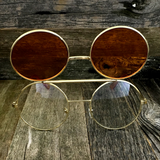 Vintage Steampunk Hippie Round Flip Up Tinted Color Lens Sunglasses - NikkiEyewear.com - 17