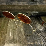 Vintage Steampunk Hippie Round Flip Up Tinted Color Lens Sunglasses - NikkiEyewear.com - 18