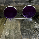 Vintage Steampunk Hippie Round Flip Up Tinted Color Lens Sunglasses - NikkiEyewear.com - 20