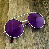 Vintage Steampunk Hippie Round Flip Up Tinted Color Lens Sunglasses - NikkiEyewear.com - 1