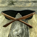 Eco Friendly Rosewood Bamboo Wood Temples Black Horned Rim Half Frame Sunglasses - NikkiEyewear.com - 5