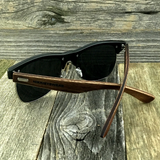 Eco Friendly Rosewood Bamboo Wood Temples Black Horned Rim Half Frame Sunglasses - NikkiEyewear.com - 6