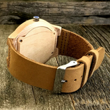Engraved Bamboo Sandalwood Watch With Genuine Leather Strap - NikkiEyewear.com - 2