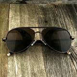 Steampunk Aviator Sunglasses with Embossed Intricate Details Side Shields - NikkiEyewear.com - 2