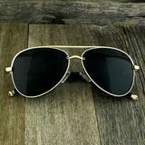 Steampunk Aviator Sunglasses with Embossed Intricate Details Side Shields - NikkiEyewear.com - 1