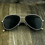 Steampunk Aviator Sunglasses with Embossed Intricate Details Side Shields - NikkiEyewear.com - 3