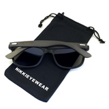 Matte Black Hybrid Rosewood Bamboo Sunglasses Flash Colored Lens - NikkiEyewear.com - 8