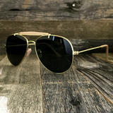 Stylish and Timeless, The Classic Outdoorsman Style Crossbar Metal Aviator Sunglasses - NikkiEyewear.com - 3