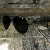 Stylish and Timeless, The Classic Outdoorsman Style Crossbar Metal Aviator Sunglasses - NikkiEyewear.com - 4
