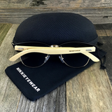 Eco Friendly Bamboo Wood Temples Clubmaster Style Sunglasses - NikkiEyewear.com - 2