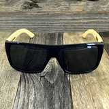 Classic Wooden Bamboo Temples Aviator Square Sunglasses - NikkiEyewear.com - 6