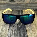 Classic Wooden Bamboo Temples Aviator Square Sunglasses - NikkiEyewear.com - 5