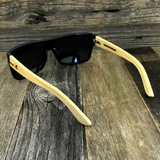 Classic Wooden Bamboo Temples Aviator Square Sunglasses - NikkiEyewear.com - 4