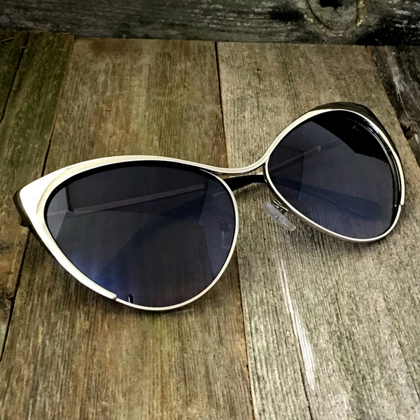 Full Metal Fashion High Tip Point Cat Eye Sunglasses - NikkiEyewear.com - 1
