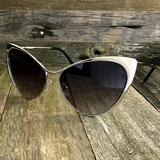 Full Metal Fashion High Tip Point Cat Eye Sunglasses - NikkiEyewear.com - 5