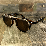 Oversized Retro Unique Spring Coil Crossbar Clip On Lens Steampunk Sunglasses - NikkiEyewear.com - 6