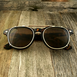 Oversized Retro Unique Spring Coil Crossbar Clip On Lens Steampunk Sunglasses - NikkiEyewear.com - 3