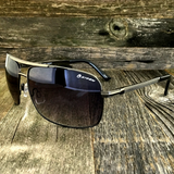 Premium Rectangle Gold Metal-Frame Retro Classic Oversized Aviator Sunglasses - NikkiEyewear.com - 2