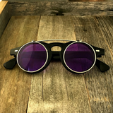 Steampunk Retro Circle Round Flip-Up Vintage Sunglasses with Tinted Color Lenses - NikkiEyewear.com - 1