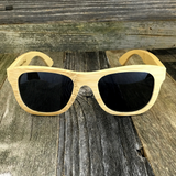 Bamboo Wood Sunglasses with Polarized Lens - Natural Bamboo Wood Frame Wayfarers - NikkiEyewear.com - 1