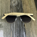 Eco Friendly Bamboo Wood Temples Clubmaster Style Sunglasses - NikkiEyewear.com - 7