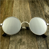 Vintage Gothic Steampunk Embossed Side Shields Sunglasses with Intricate Details Silver Mirror Lens - NikkiEyewear.com - 7