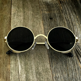 Gothic Steampunk Embossed Side Shields Intricate Details with Gold Frame Sunglasses - NikkiEyewear.com - 4