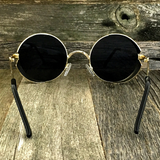 Gothic Steampunk Embossed Side Shields Intricate Details with Gold Frame Sunglasses - NikkiEyewear.com - 5