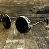 Vintage Gothic Steampunk Embossed Side Shields with Intricate Details Black Frame Sunglasses - NikkiEyewear.com - 5