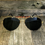 Iconic Classic Aviator with Brow Bar and Glass Lens Sunglasses - NikkiEyewear.com - 4