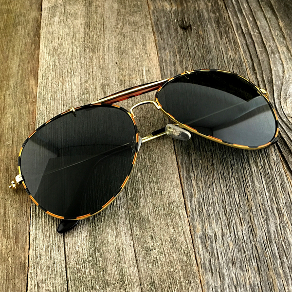 Iconic Classic Aviator with Brow Bar and Glass Lens Sunglasses - NikkiEyewear.com - 2