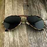 Iconic Classic Aviator with Brow Bar and Glass Lens Sunglasses - NikkiEyewear.com - 6
