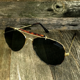 Iconic Classic Aviator with Brow Bar and Glass Lens Sunglasses - NikkiEyewear.com - 1