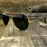 Iconic Classic Aviator with Brow Bar and Glass Lens Sunglasses - NikkiEyewear.com - 5
