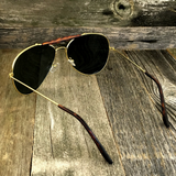 Iconic Classic Aviator with Brow Bar and Glass Lens Sunglasses - NikkiEyewear.com - 3