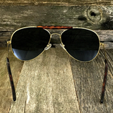 Iconic Classic Aviator with Brow Bar and Glass Lens Sunglasses - NikkiEyewear.com - 7