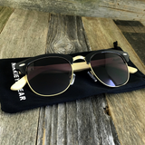 Eco Friendly Bamboo Wood Temples Clubmaster Style Sunglasses - NikkiEyewear.com - 6
