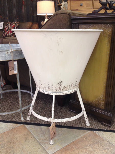 Antique White Half Wall Planter Stand - Niche Market Furniture