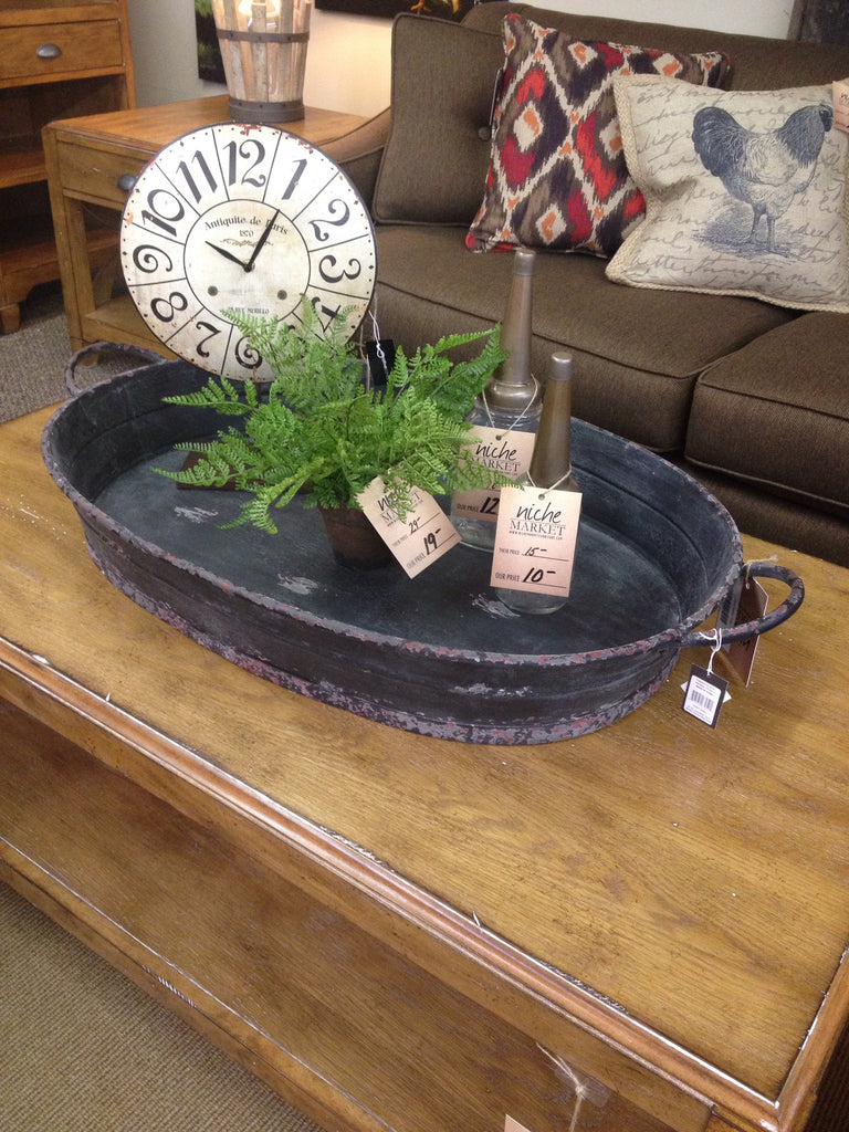 Oval Metal Tray - Niche Market Furniture
