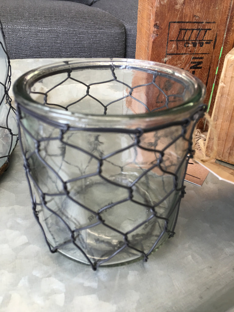 Candle Holder w/Poultry Wire – Niche Market Furniture