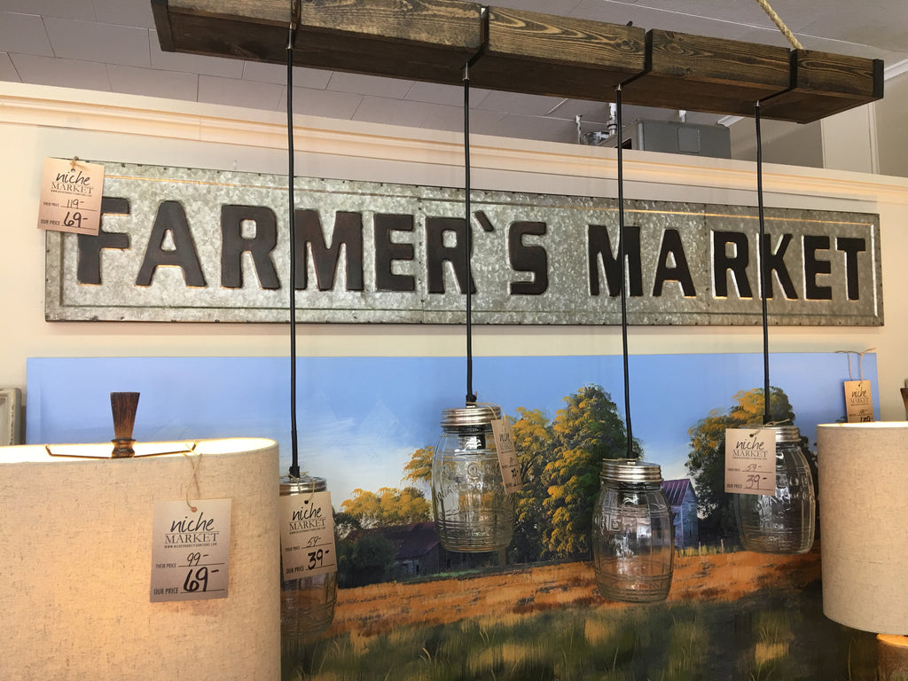 Metal Farmers Market Sign - Niche Market Furniture