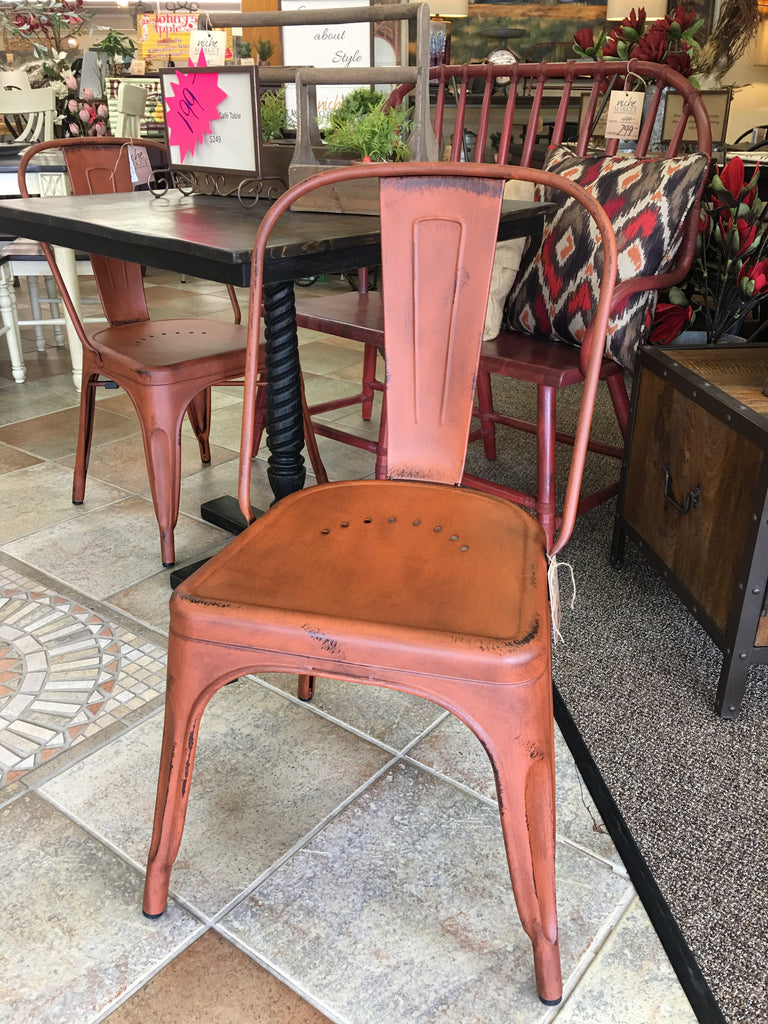 Orange Bow Back Side Chair - Niche Market Furniture