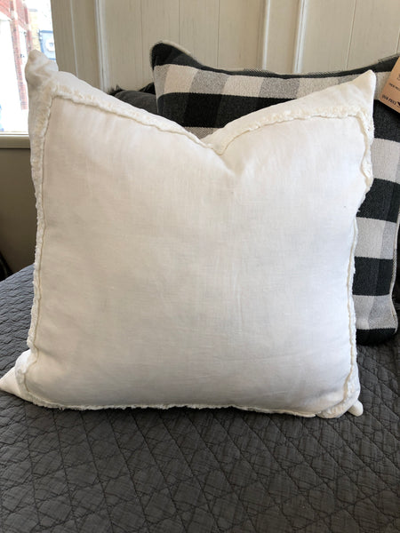 Ivory Ruffled Pillow