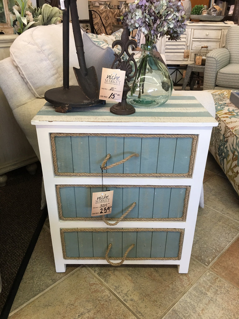 South Shore Blueish Grey Accent Chest