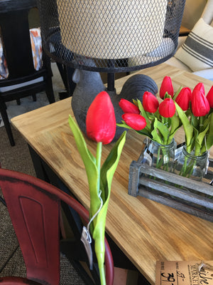 Red Real Touch Mini Tulip Stem