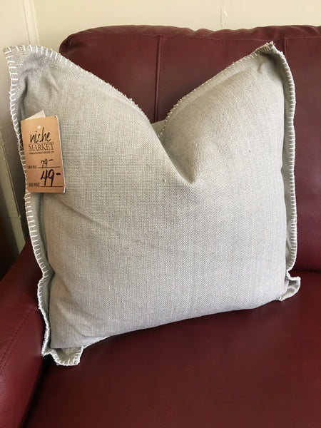 Grey Flange Pillow